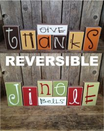 Inspiration by stickwithmevinyl on Etsy, http://www.etsy.com/listing/159125734/reversible-give-thanks-jingle-bells?ref=&sref=